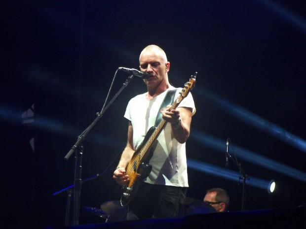 Sting sur la Main Stage du Main Square Festival, à Arras, le 6 juillet 2013. (photo : Léa Fox)