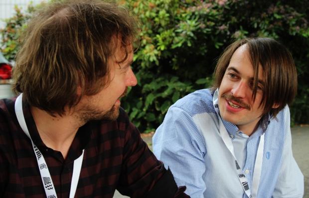 Mister I (clavier) et Mr. Jonfox (basse), The Rambling Wheels, Festi'Neuch 2014 (photo : Coralie Houillon)